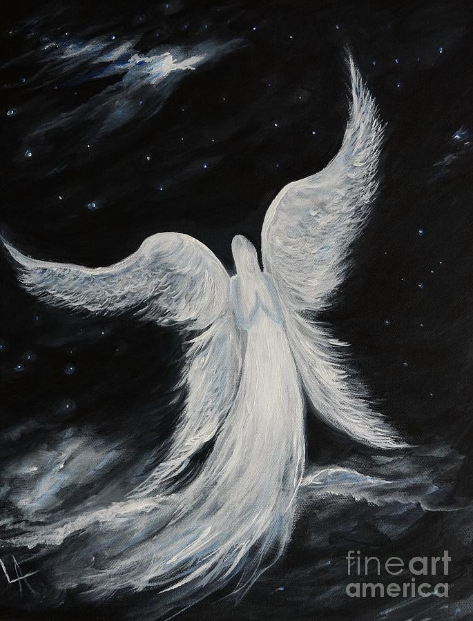 Comforting Angels Prayer is a painting by Leslie Allen which was ...