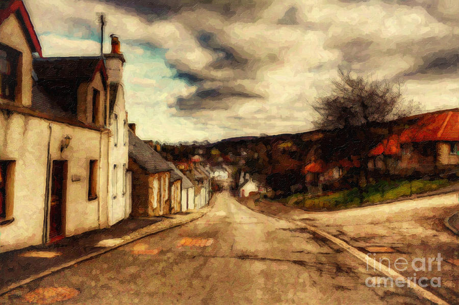 A Cotswold Village Digital Art  - A Cotswold Village Fine Art Print