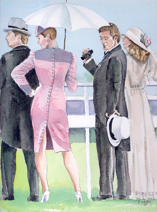 A Day At The Races Painting  - A Day At The Races Fine Art Print