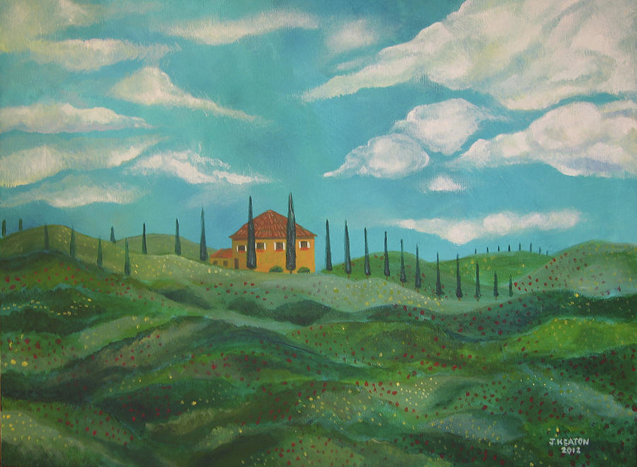 A Day In Tuscany Painting  - A Day In Tuscany Fine Art Print