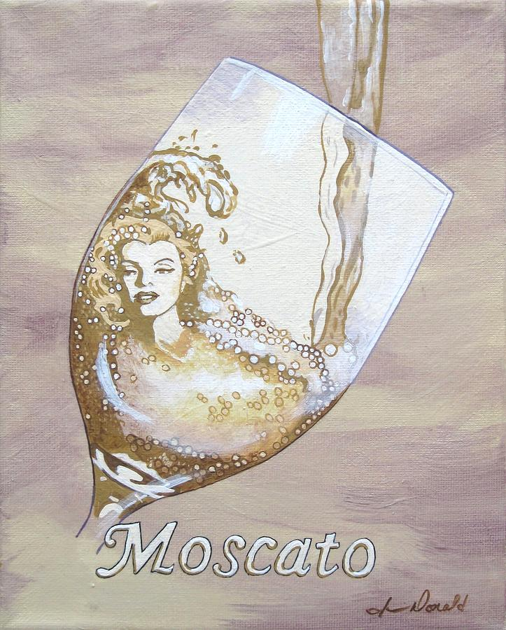A Day Without Wine - Moscato Painting  - A Day Without Wine - Moscato Fine Art Print