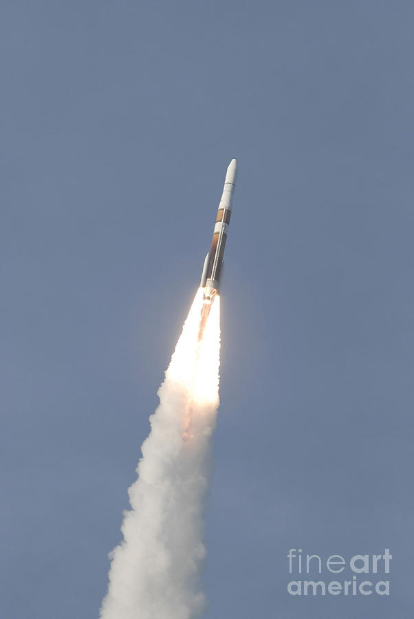 A Delta Iv Rocket Roars Into The Sky Photograph