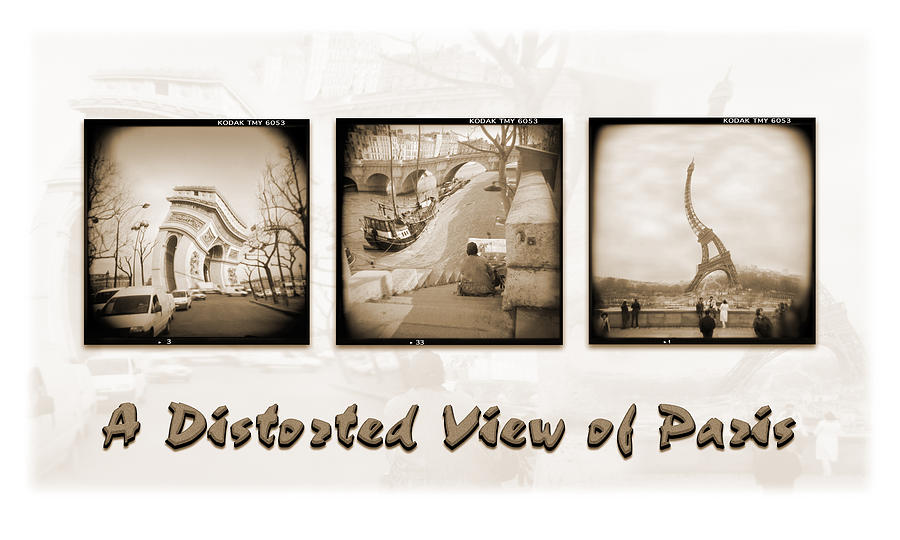 A Distorted View Of Paris Photograph  - A Distorted View Of Paris Fine Art Print