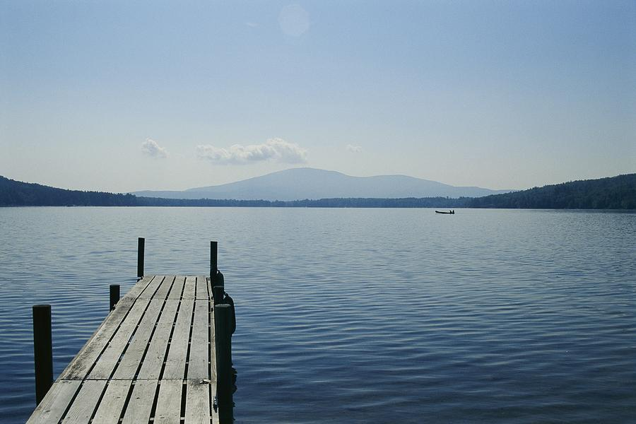 A Dock Juts Into The Photograph