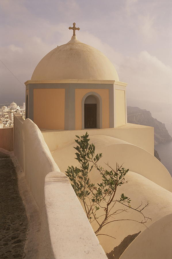 A Domed Church Clings To A Hillside Photograph  - A Domed Church Clings To A Hillside Fine Art Print