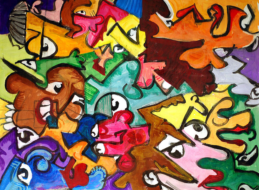 A Face In The Crowd Painting