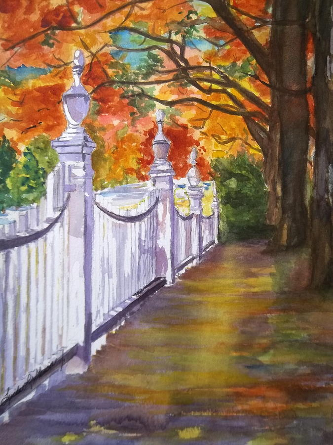A Fall Walk Painting
