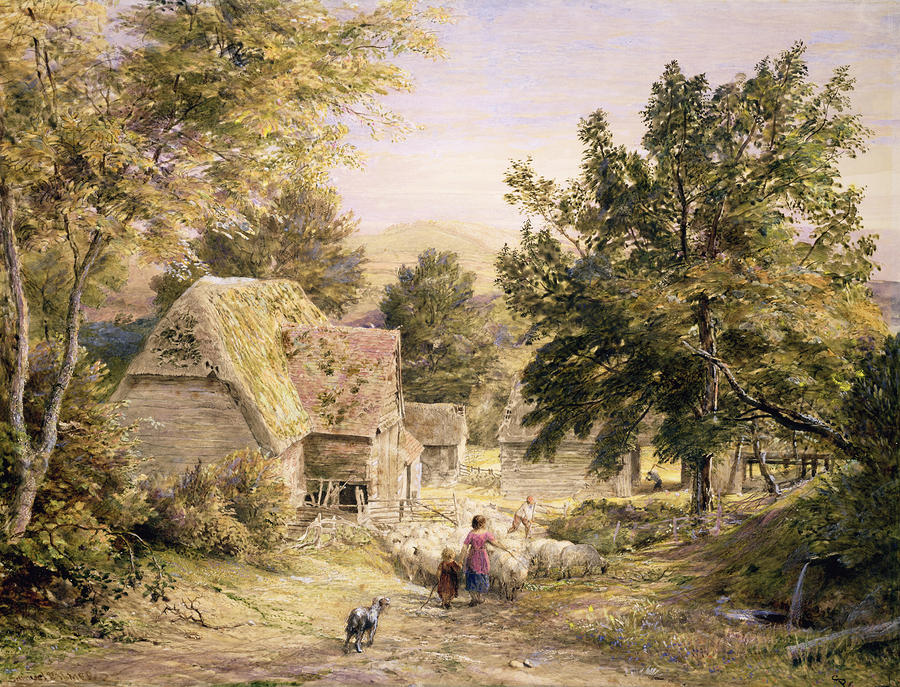 A Farmyard Near Princes Risborough Painting