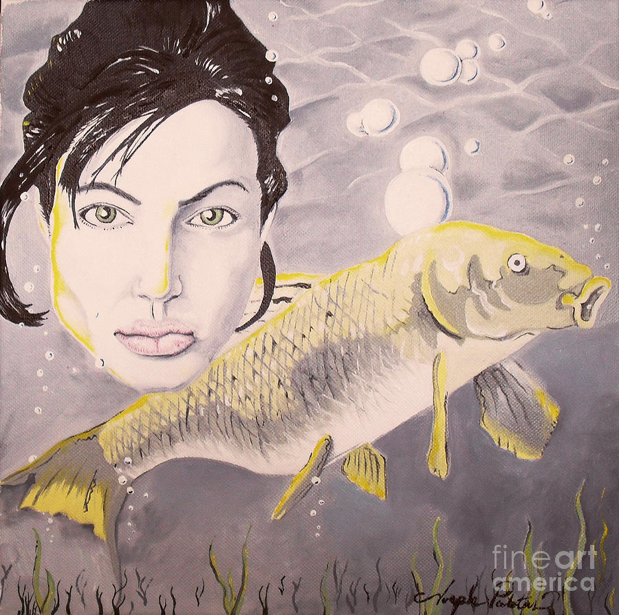 A Fish Named Angelina Painting  - A Fish Named Angelina Fine Art Print