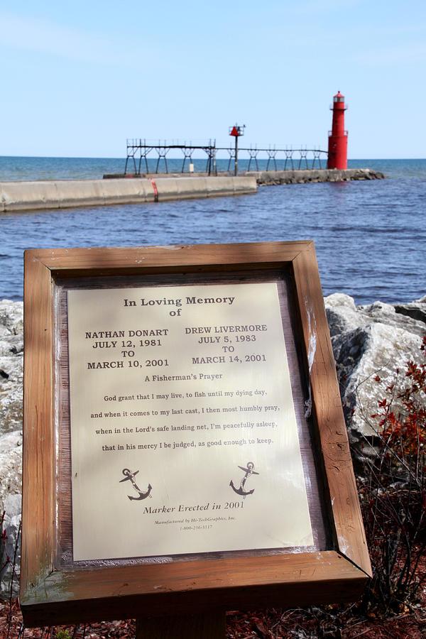 Algoma Photograph - A Fishermans Prayer At Algoma Lighthouse by Mark J Seefeldt