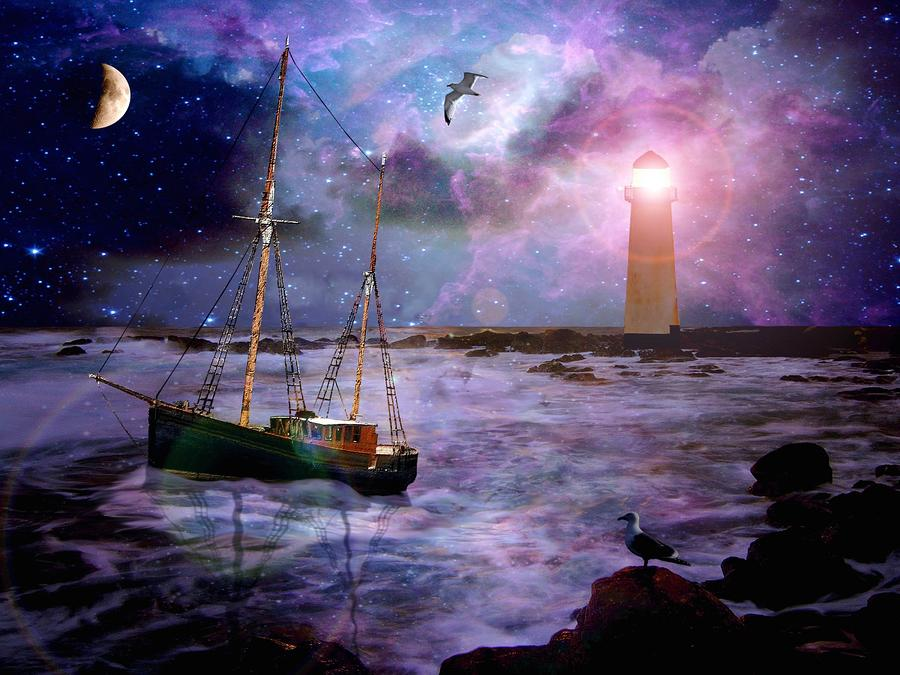 A Fishermans Tale Digital Art  - A Fishermans Tale Fine Art Print