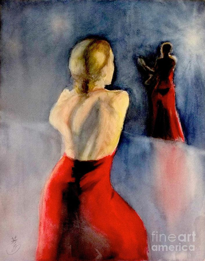 A Flamenco Dancer  3 Painting  - A Flamenco Dancer  3 Fine Art Print