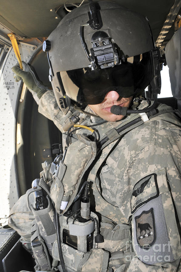 A Flight Medic Conducts A Daily Photograph