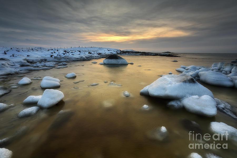 A Frozen, Rusty Bay On Andoya Island Photograph