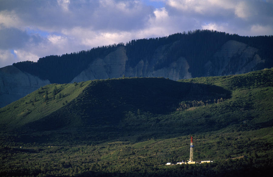 A Gas Drilling Rig At The Foot Photograph