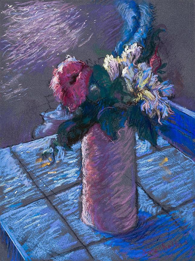 Flowers Pastel - A Gift Of Peonies by Ellen Dreibelbis