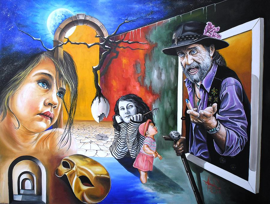 Surreal Painting - A Gipsy Tale by Raceanu  Mihai Adrian
