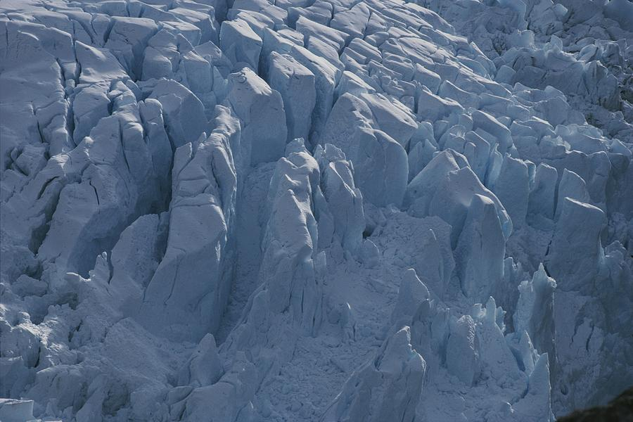 A Glacier Icefall From The Cordillera Photograph