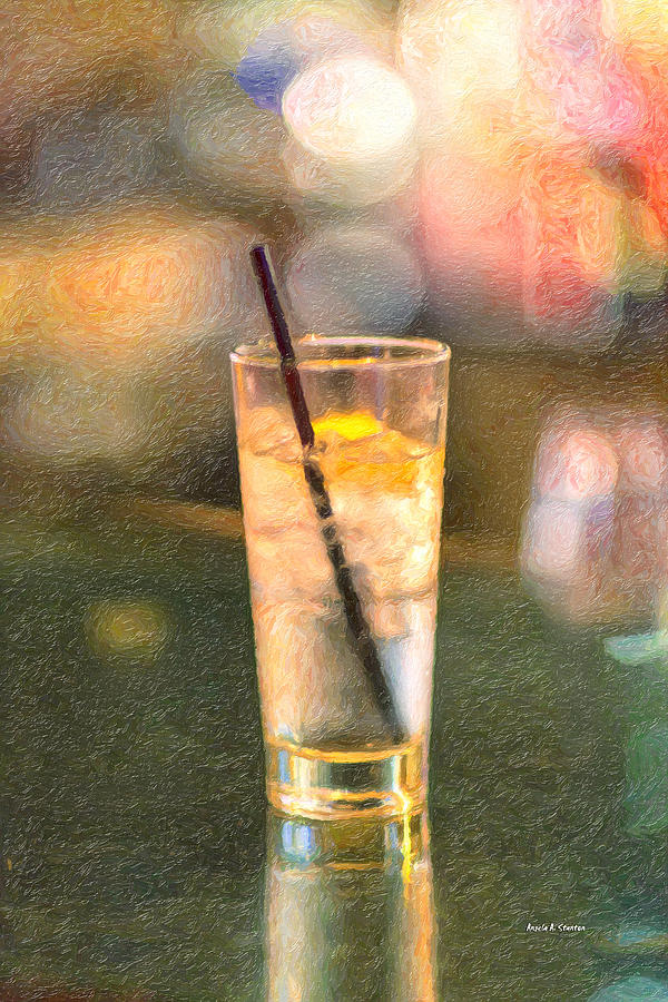 A Glass Of Water Painting  - A Glass Of Water Fine Art Print