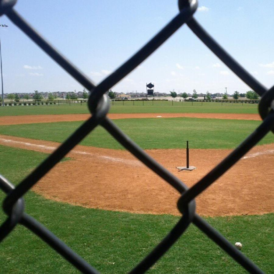 Diamond Photograph - A Great Day For Tball #sports #diamond by Kel Hill