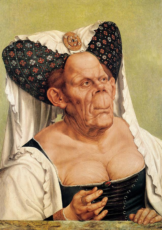 A Grotesque Old Woman Painting