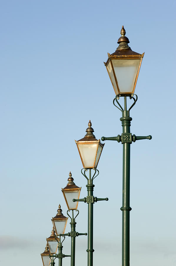 A Group Of Old Gas Street Lamps Photograph  - A Group Of Old Gas Street Lamps Fine Art Print
