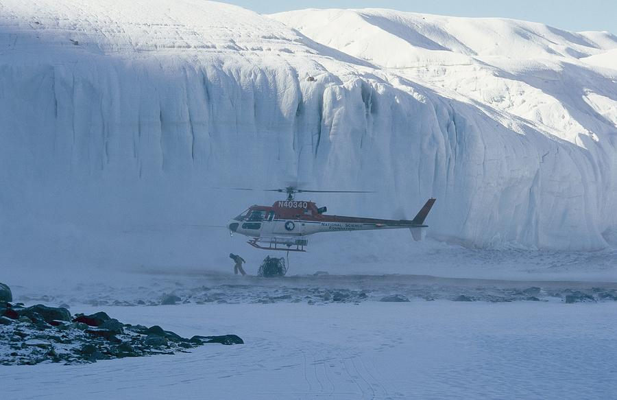 Outdoors Photograph - A Helicopter Delivers Supplies by Maria Stenzel