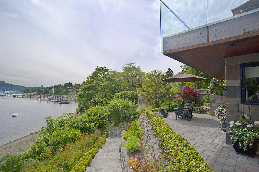 A House Terrace Overlooking The Water Photograph
