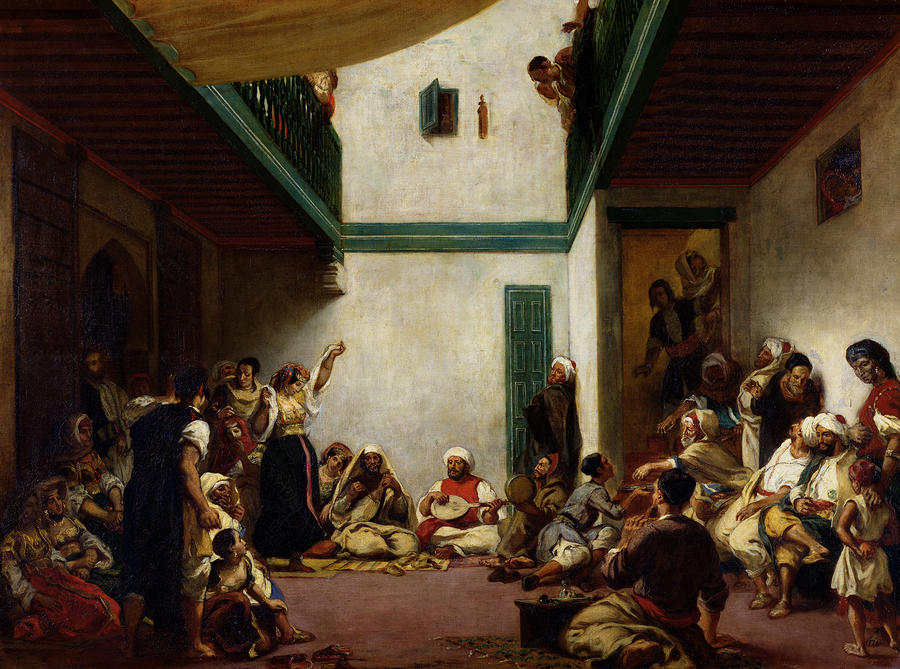 A Jewish Wedding In Morocco Painting  - A Jewish Wedding In Morocco Fine Art Print