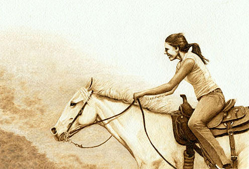 A Joyful Ride Drawing