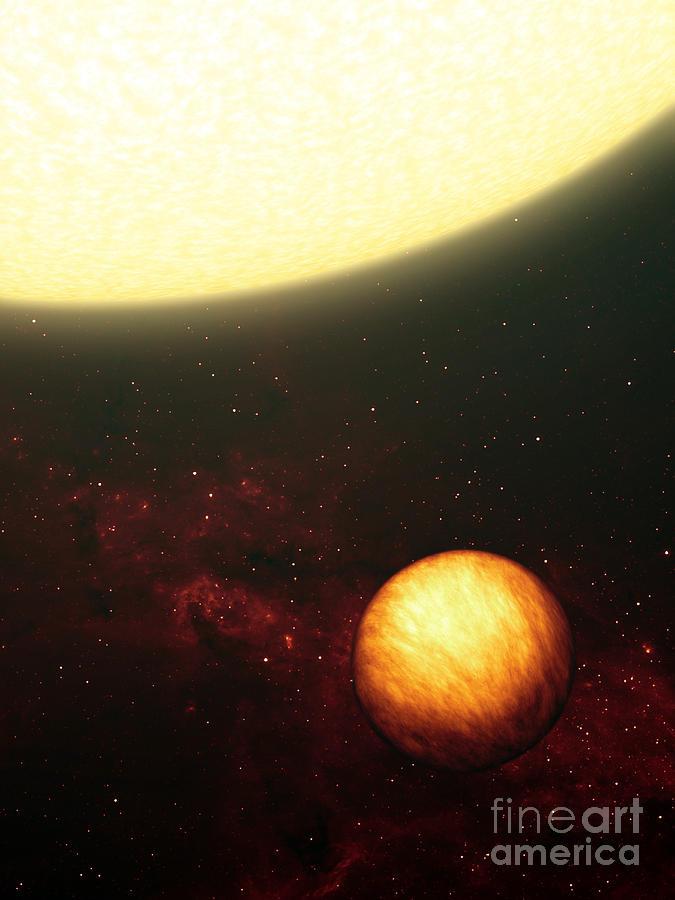 Artist Digital Art - A Jupiter-like Planet Soaking by Stocktrek Images
