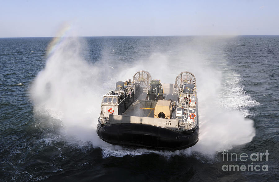 Military Photograph - A Landing Craft Utility From Assault by Stocktrek Images