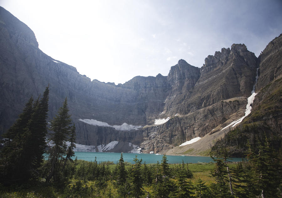 A Landscape Image Of Iceberg Lake Photograph