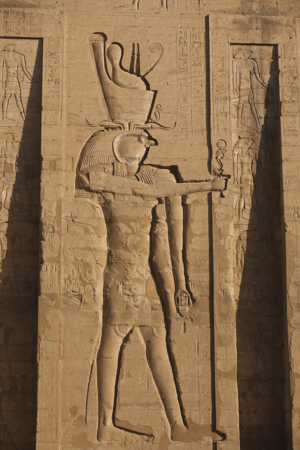 A Large Relief Of The God Horus Photograph