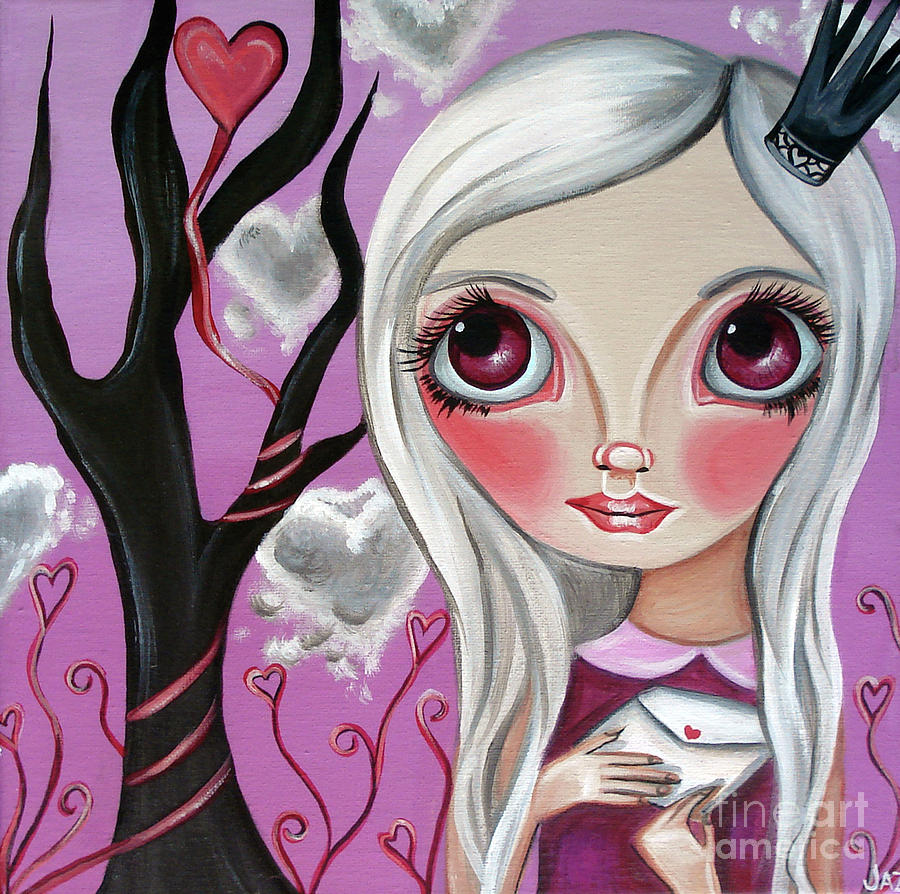 A Letter From My Valentine Painting  - A Letter From My Valentine Fine Art Print