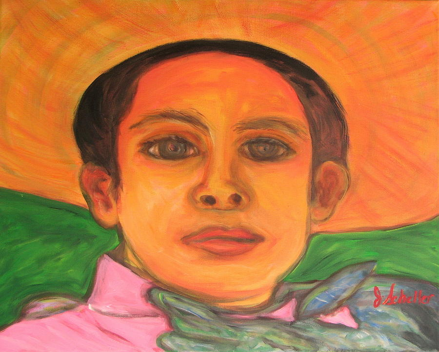 A Little Mexican Boy Painting A Little Mexican Boy Fine Art Print Jodie