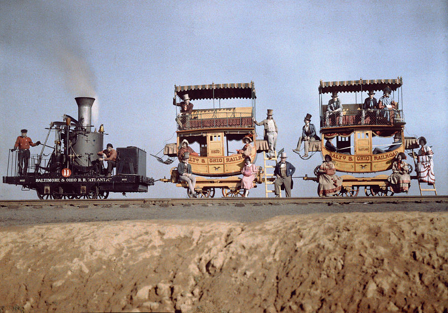 A Locomotive And Two Coaches Photograph  - A Locomotive And Two Coaches Fine Art Print