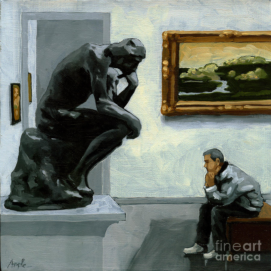 A Lot To Think About - Oil Painting Painting  - A Lot To Think About - Oil Painting Fine Art Print