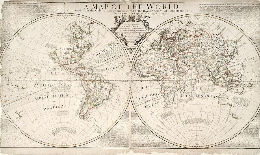 A Map Of The World Painting