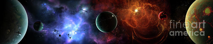 A Massive And Crowded Universe Digital Art  - A Massive And Crowded Universe Fine Art Print