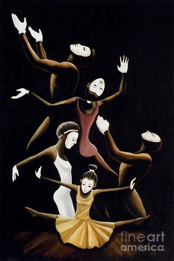 Mime Painting - A Mime To Praise by Frank Sowells Jr