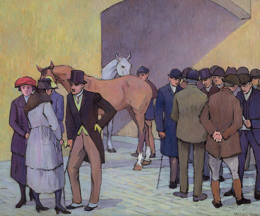 A Morning At Tattersalls Painting  - A Morning At Tattersalls Fine Art Print
