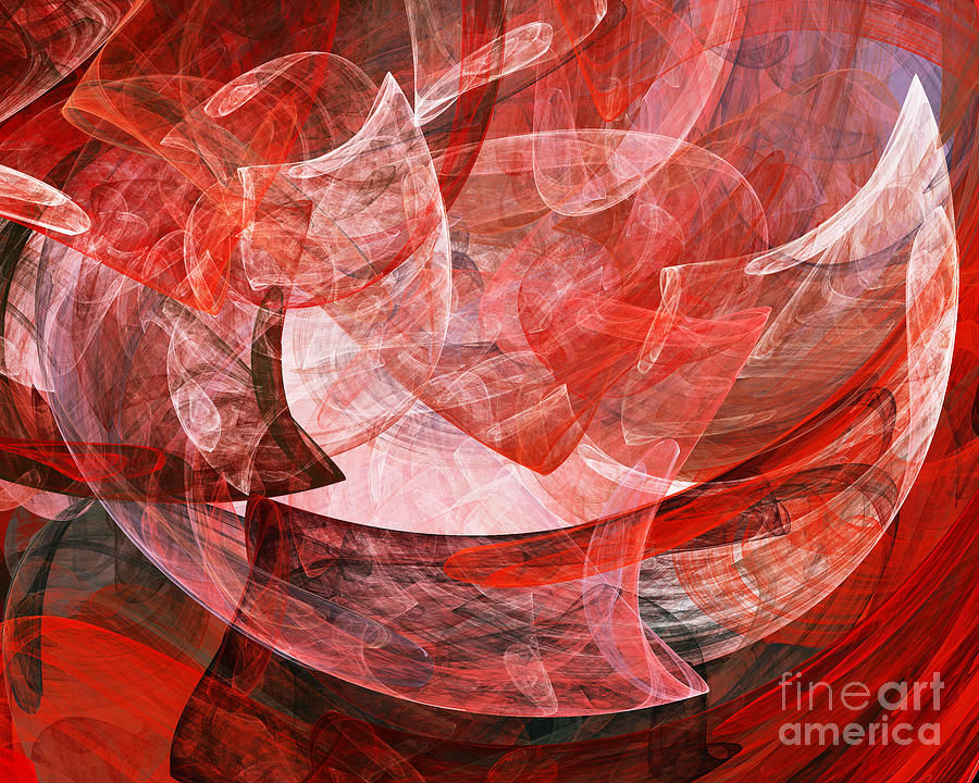 A Mothers Womb . A120422.446 Digital Art  - A Mothers Womb . A120422.446 Fine Art Print