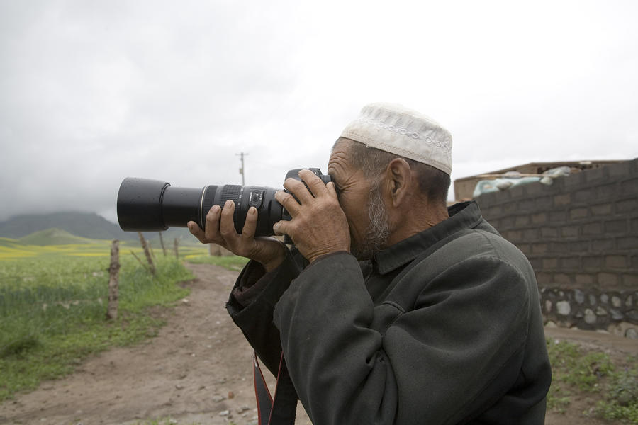 A Muslim Rural Resident Looks Photograph