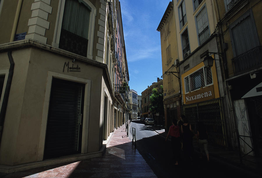 A Narrow Alley In Perpignan, France Photograph