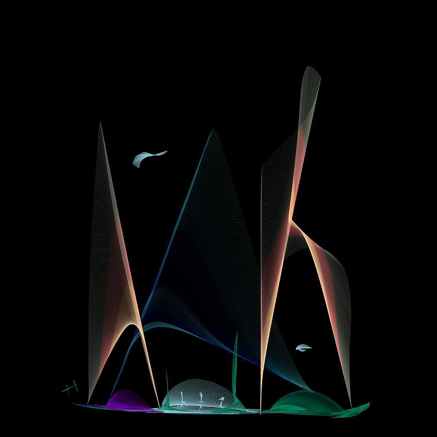 Digital Painting Digital Art - A New World by Hayrettin Karaerkek