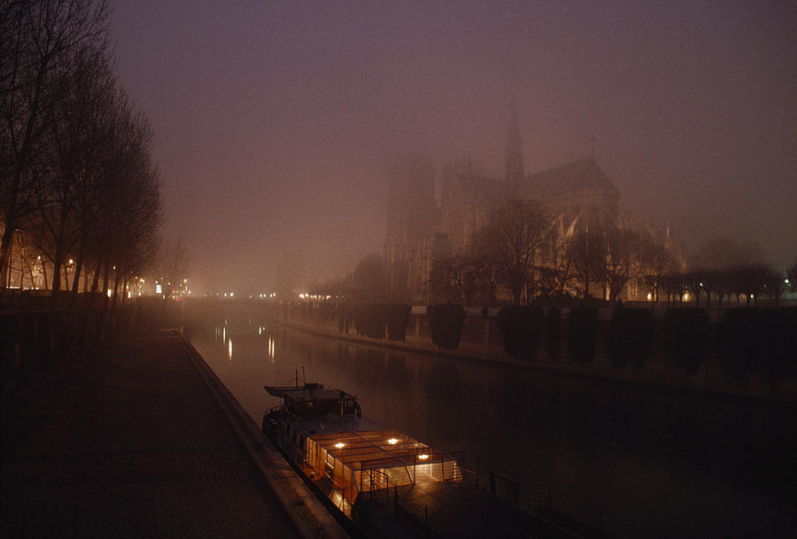 A Night View Across The Seine Towards Photograph
