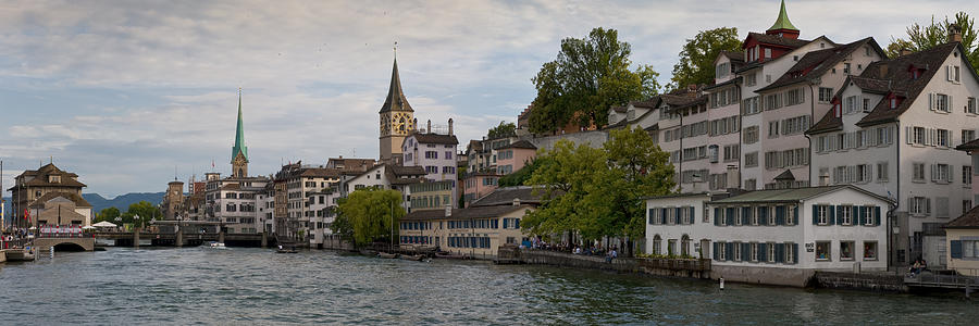 A Panorama View Of Zurich Photograph  - A Panorama View Of Zurich Fine Art Print