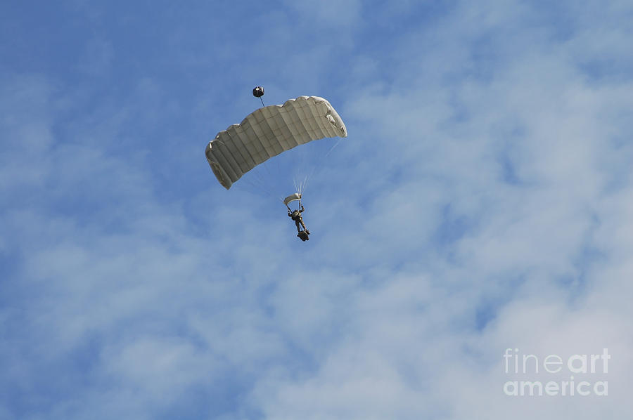 A Paratrooper Of The Belgian Army Photograph  - A Paratrooper Of The Belgian Army Fine Art Print