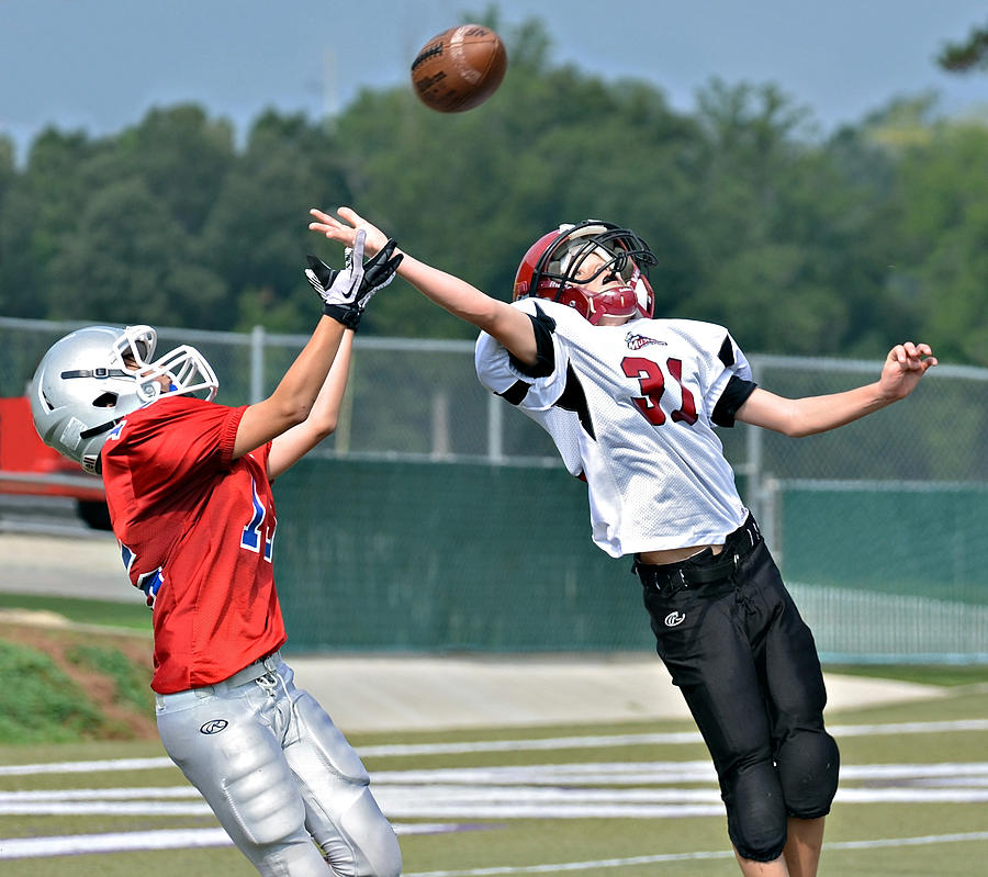 A Pass For The Touchdown Photograph